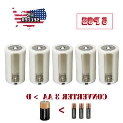 1.5V  AA to D Battery Adapters Converter Cases Plastic Paral