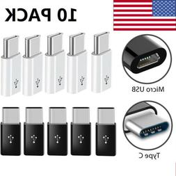 10 PACK Micro USB to USB 3.1 Type-C Data Adapter Converter F