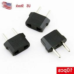 10 Pack:US  to EU  Power Plug Adapter for USA converter Trav