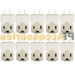 10 Pc 3 Prong to 2 Prong Outlet Electrical Ground AC Adapter