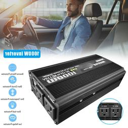 1000W 2000W Car Power Inverter DC 12V To AC 110V 2 AC Outlet