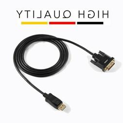 1080P DisplayPort to DVI Male to Male Audio Cable Adapter Co