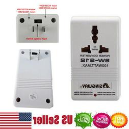 110V to 220V Step-Up & Down Dual Voltage Converter 100W Watt