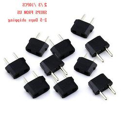 2 /3 / 10pcs US  to EU  Power Plug Adapter for USA converter