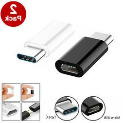 2-PACK Micro USB to Type C Adapter Converter Micro-B to USB-