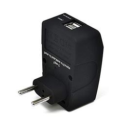 Ceptics 2 USB Most of Europe Travel Adapter 4 in 1 Power Plu