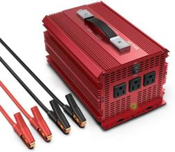 BESTEK 2000W Power Inverter 3 AC Outlets DC 12V to 110VAC Ca