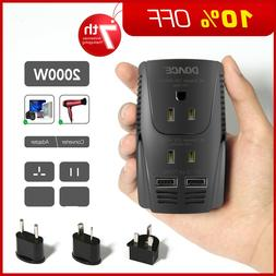 DOACE 2000W Travel Voltage Converter and Power Adapter Step