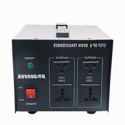 2000W Voltage Transformer Converter Step Up/Down Power Suppl