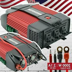 Audiotek 2000W Watt Power Inverter DC 12V AC 110V Car Conver