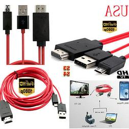 2M 6FT Micro USB MHL to HDMI Cable Adapter Converter For Sam