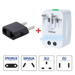 2pk Universal All In One Power Adapter Wall Charger Socket T
