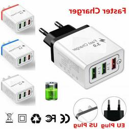 3 Port Fast Charge USB Hub Wall Charger Power Adapter Conver
