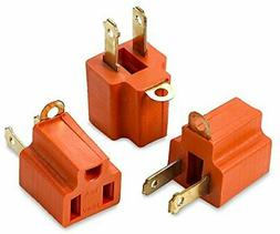 3 prong To 2 Prong 3 Piece Grounding Adapter For Wall Outlet