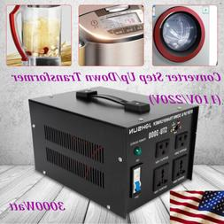 3000W Voltage Transformer Step Up&Down 110V to 220V,220V to1