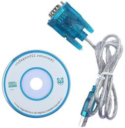 3ft DB9 RS232 Serial to USB 2.0 Converter 9 Pin Adapter Cabl