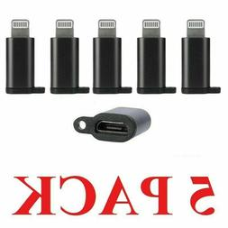 5 X Android Micro USB to 8 pin iphone Lightning Adapter char