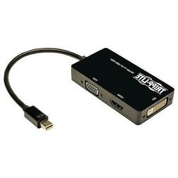 6 Inch Mini Displayport to VGA / DVI / HDMI All-in-One Adapt