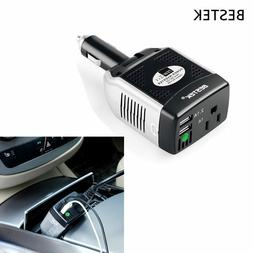 BESTEK 75W Car Power Inverter 2-Port USB Charger Adapter 12V