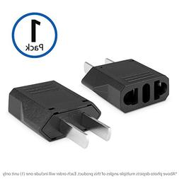 BoxWave European to American Outlet Plug Adapter,Black,Euro
