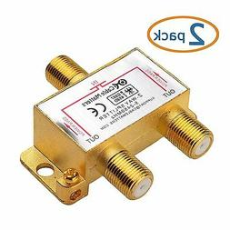 Cable Matters 2-Pack Gold Plated 2.4 Ghz 2 Way Coaxial Cable