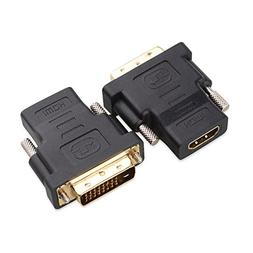 Cable Matters 2 Pack Gold Plated HDMI to DVI Adapter