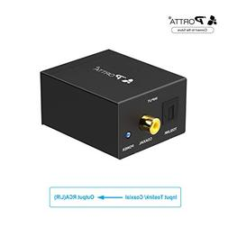 Portta Audio Converter Digital Toslink/Optical SPDIF to L/R