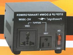 Power Bright VC300W Voltage Transformer 300 Watt Step Up/Dow