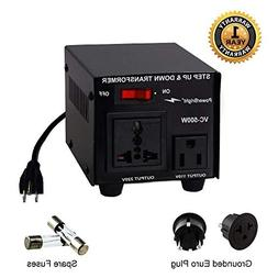 Power Bright VC500W Voltage Transformer 500 Watt Step Up/Dow
