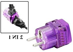 Regvolt AC Power Travel Adapter Plug for Europe like France,