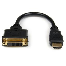 StarTech.com 8in HDMI to DVI-D Video Cable Adapter - HDMI Ma