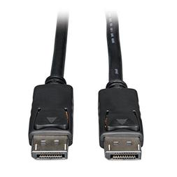 Tripp Lite DisplayPort Cable with Latches , DP to DP, 1080p,