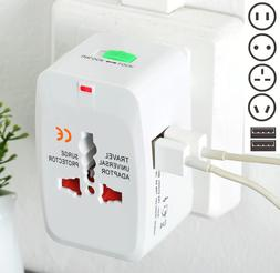 US to EU Travel Adapter Charger AC Power Plug Converter Euro