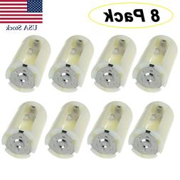 AA to Size D Battery Adapters Converter Cases Plastic Parall