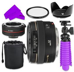 Professional Accessory Kit with Canon EF 50mm f/1.4 USM Lens