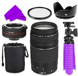 Professional Accessory Kit with Canon EF 75–300mm f/4–5.