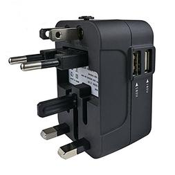Travel Adapter, JMcolo All in One Universal International Po