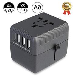 Travel Adapter, All-in-one Universal International Power Ada