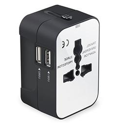 Travel Adapter, Universal International All-in-One Worldwide
