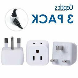 Travel Outlet Adapter Plug USA, UK, Hong Kong - Type G  Dual