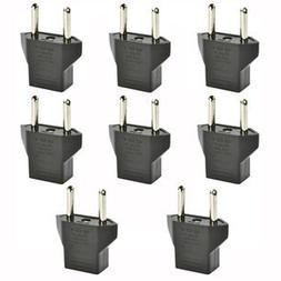 Haiker 8 PCS American USA to European Outlet Plug Adapter
