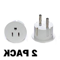 OREI American USA To European Schuko Germany Plug Adapters C