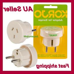 Korjo AU/NZ To EU European Charger Power Socket AC Plug Adap