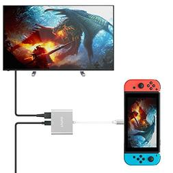 TUTUO Type C to HDMI Adapter Dock for Nintendo Switch, USB C