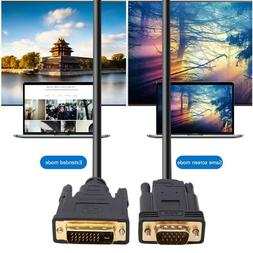 CableDeconn E0208 DVI 24+1 Pin Male to VGA Male Gold Plated
