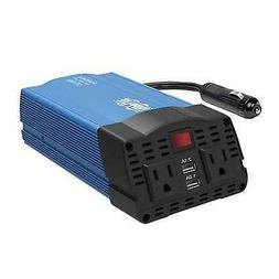 Tripp Lite 375W Car Power Inverter 2 Outlets 2-Port USB Char