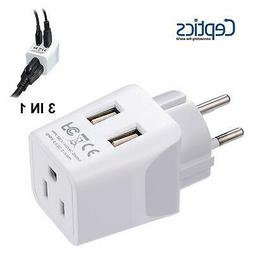 Ceptics USA to Israel, Palestine Travel Adapter Plug  With D