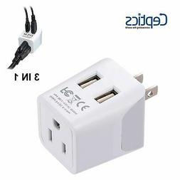 Ceptics USA to Japan, Philippines Travel Adapter Plug  With