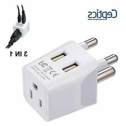 Ceptics USA to South Africa Travel Adapter Plug  With Dual U