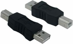 CERRXIAN USB Type A Male to USB Type B Male Connector Conver